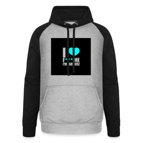 I Love FMIF Badge - Sweat-shirt baseball unisexe