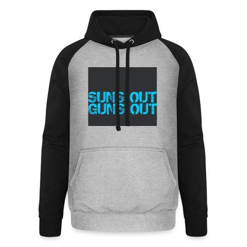 Felpa suns out guns out - Felpa da baseball con cappuccio unisex