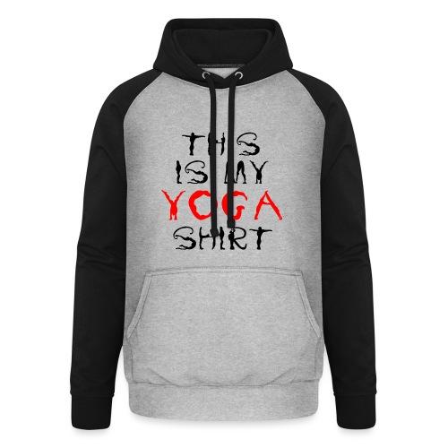 camicia yoga sport namaste spiritualità pace amore - Felpa da baseball con cappuccio unisex