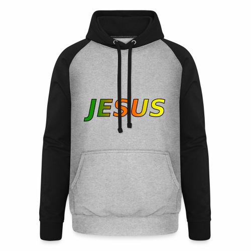 JESUS - grün/orange/gelb - Unisex Baseball Hoodie