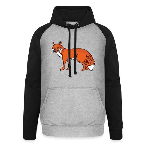 Roxo le renard - Sweat-shirt baseball unisexe