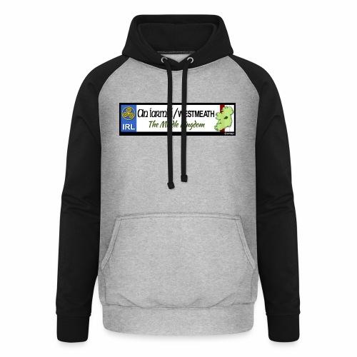 WESTMEATH, IRELAND: licence plate tag style decal - Unisex Baseball Hoodie