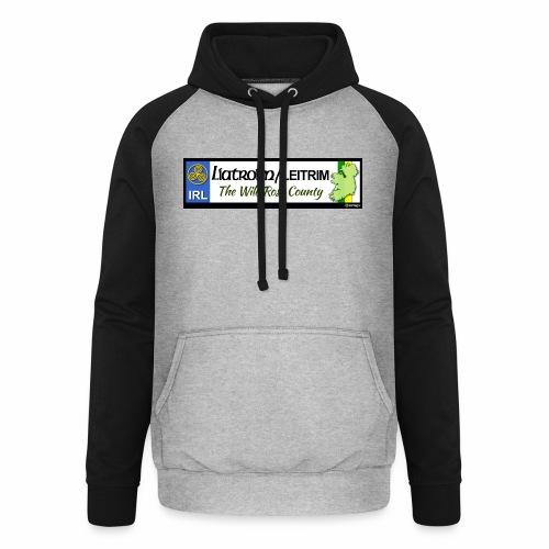 LEITRIM, IRELAND: licence plate tag style decal eu - Unisex Baseball Hoodie
