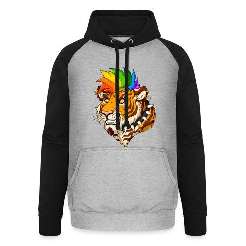 Punk Tiger - Bluza bejsbolowa typu unisex