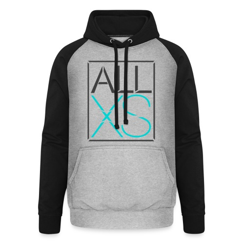 Black and Blue basic - Unisex baseball hoodie