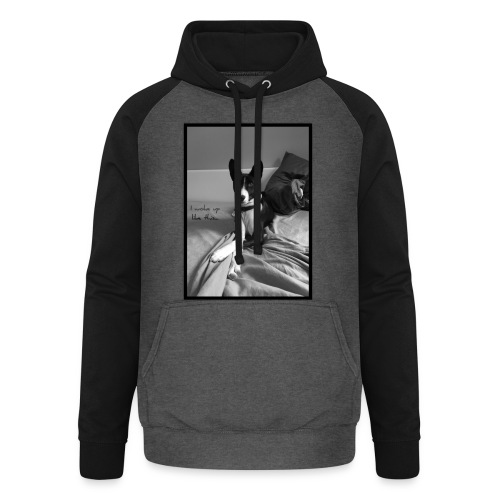 Piratethebasenji - Sweat-shirt baseball unisexe