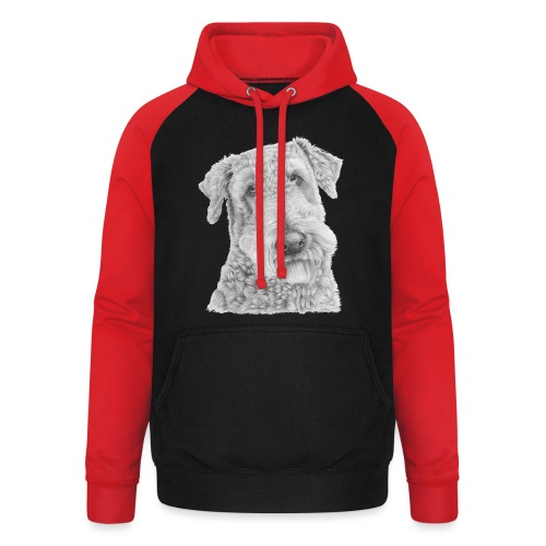 airedale terrier - Unisex baseball hoodie