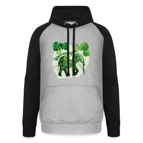 Dschungel - Elefant - Loxodonta cyclotis - Unisex Baseball Hoodie