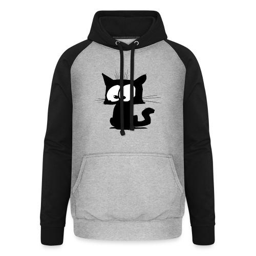 Black Cat 01 - Sweat-shirt baseball unisexe