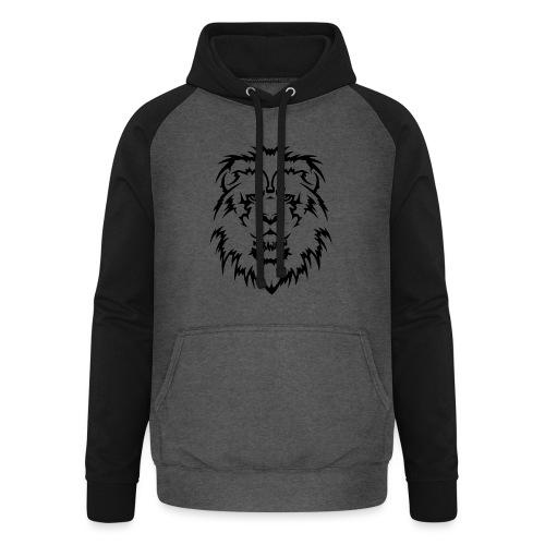 Karavaan Lion Black - Unisex baseball hoodie
