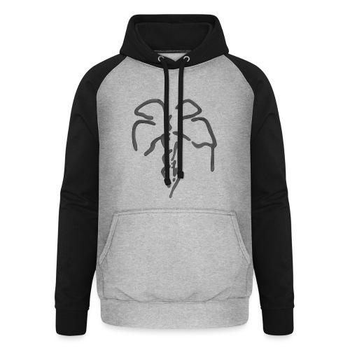 Palme i sort - Unisex baseball hoodie