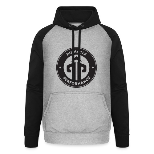 Pinnacle Performance Apparel (Black Logo) - Unisex Baseball Hoodie