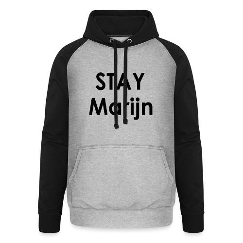 stay marijn black - Unisex baseball hoodie