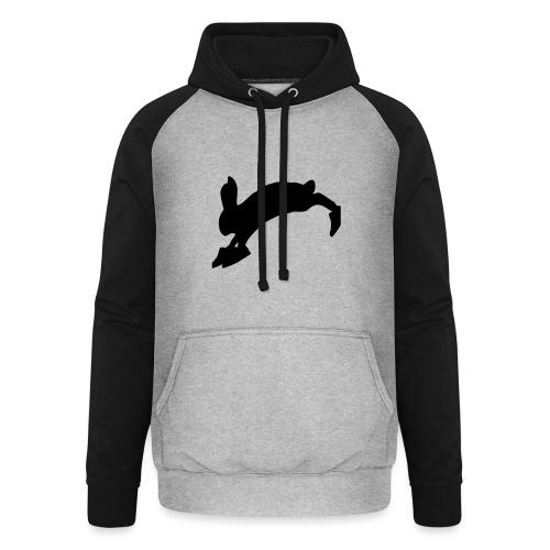 Bunny_Logo_Black - Unisex baseball hoodie