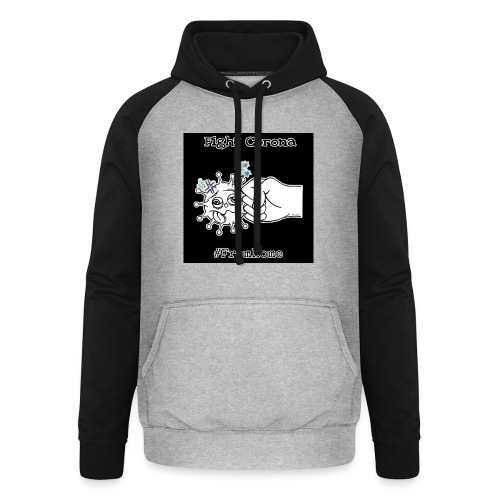 Fight Corona From Home - Unisex Baseball Hoodie