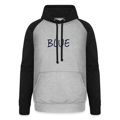 BLUE - Unisex baseball hoodie