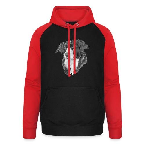 border collie 1 - Unisex baseball hoodie