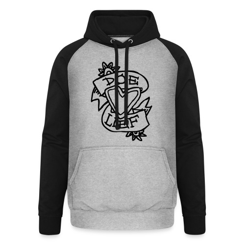 doe lief hart tattoo - Unisex baseball hoodie