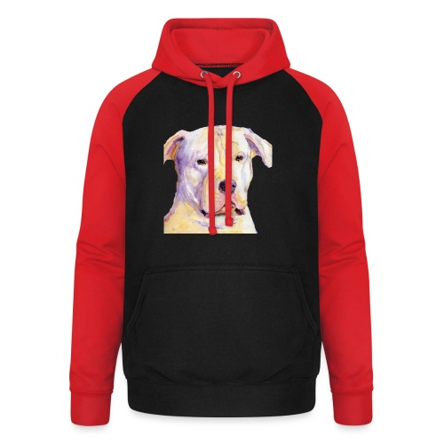 dogo argentino - Unisex baseball hoodie