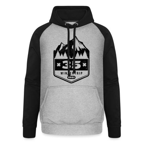 35 ✕ WINTERTRIP ✕ 2021 • BLACK - Unisex baseball hoodie