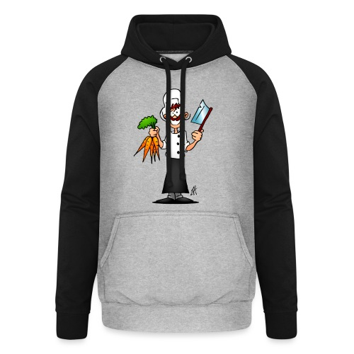 The vegetarian chef - Unisex Baseball Hoodie