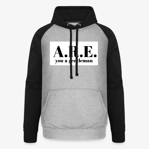 ARE you a gentleman - Unisex Baseball Hoodie