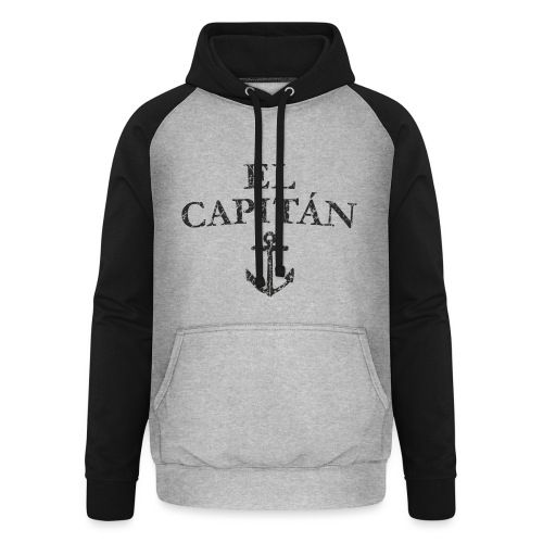 El Capitan Anker (Vintage Schwarz) Kapitän Käpt'n - Unisex Baseball Hoodie