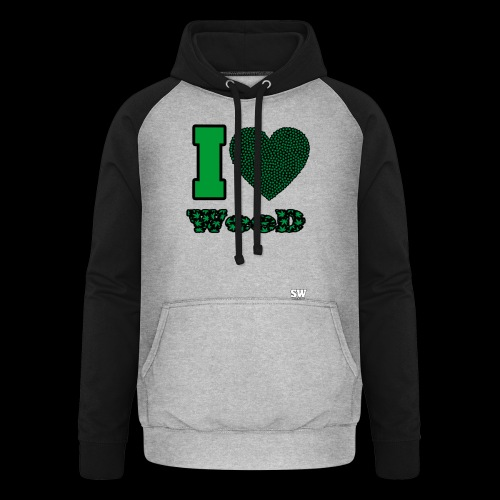 I Love weed - Sweat-shirt baseball unisexe