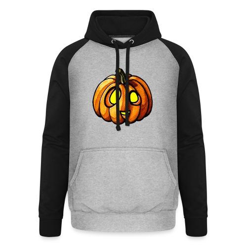 Pumpkin Halloween watercolor scribblesirii - Unisex baseball hoodie