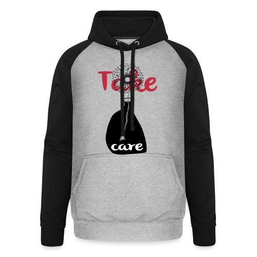 take_care - Felpa da baseball con cappuccio unisex