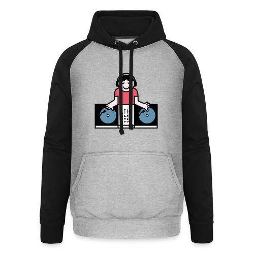 Vinyl DJ - Unisex baseball hoodie