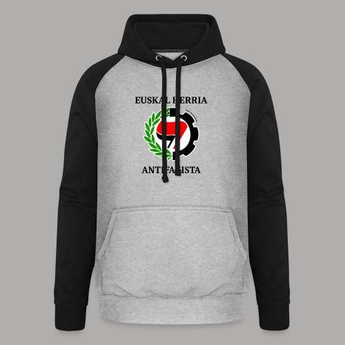 EH antifaxista pour fond clair - Sweat-shirt baseball unisexe