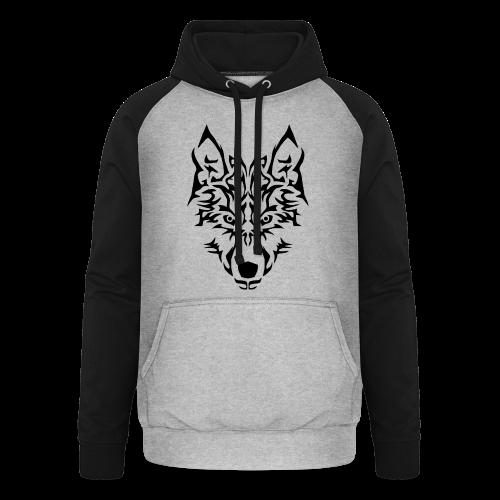 Tribal Wolf - Sweat-shirt baseball unisexe