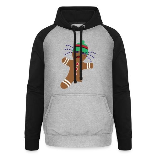 Lebkuchenmann - Weihnachtsgeschenk - Ugly Xmas - Unisex Baseball Hoodie