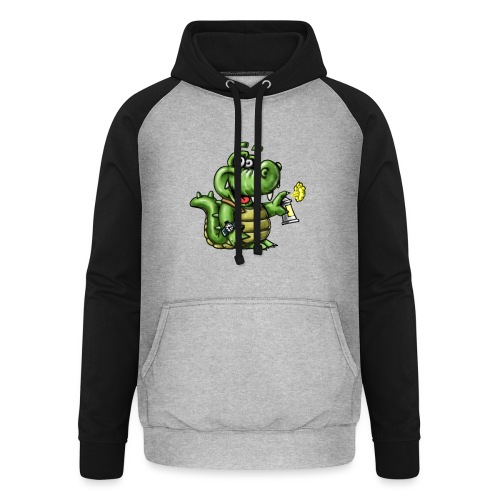 Crocodile Graffeur - Sweat-shirt baseball unisexe
