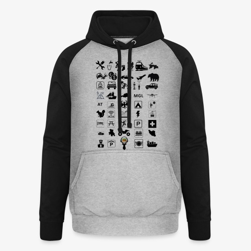 Where should I go now? - Unisex Baseball Hoodie