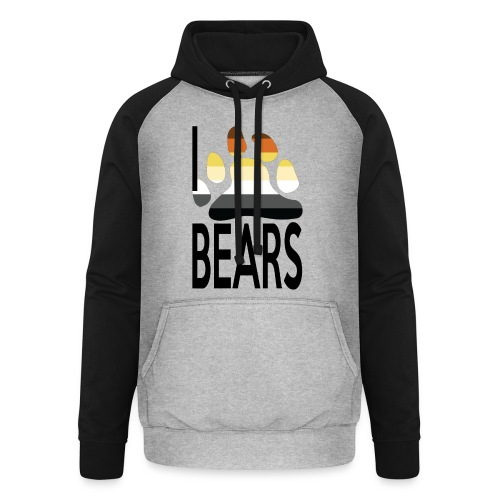 I love bears - Sweat-shirt baseball unisexe
