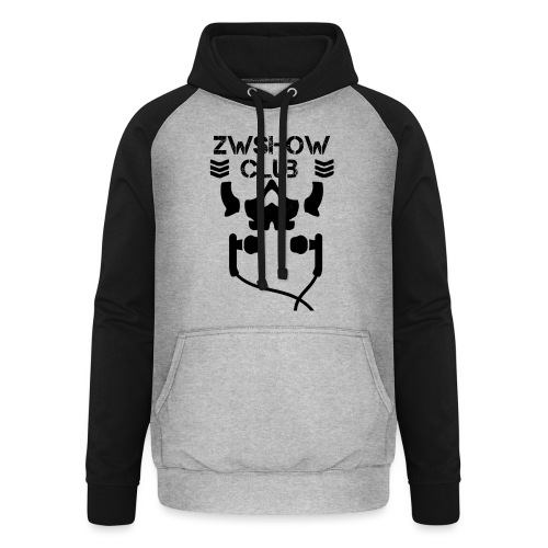 ZW Show Club - Black - Felpa da baseball con cappuccio unisex