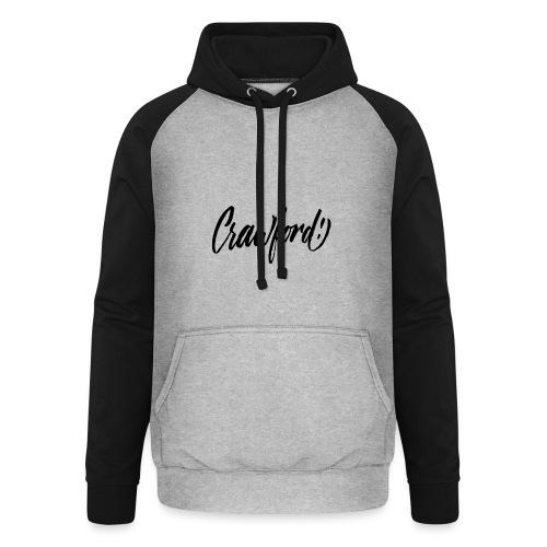 CRAWFORD CALLIGRAPHIE BK - Sweat-shirt baseball unisexe