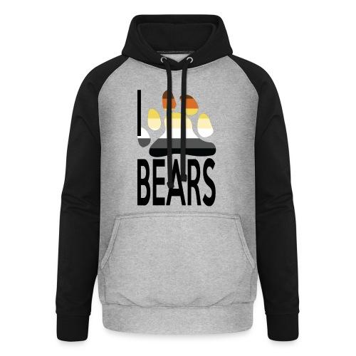I love bears - Sweat-shirt baseball unisexe