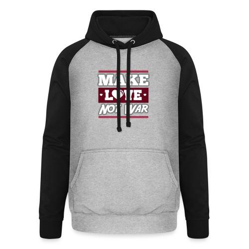 Make_love_not_war by Lattapon - Unisex baseball hoodie