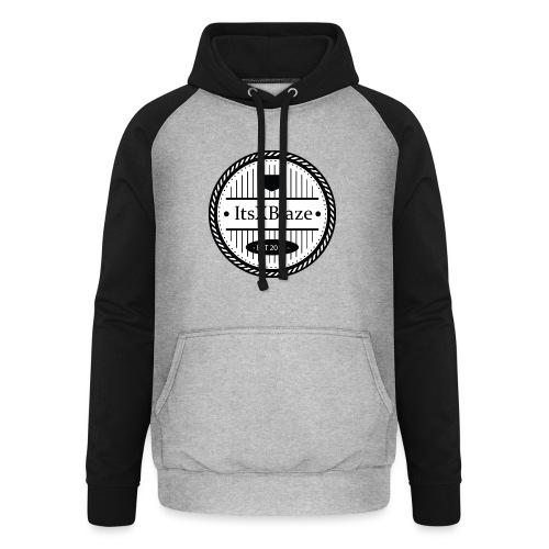 ItsXBlaze Logo 3 White V-Neck Option 2 - Unisex baseball hoodie