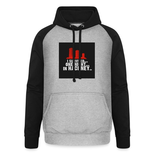 i survived one night in hackney badge - Unisex Baseball Hoodie