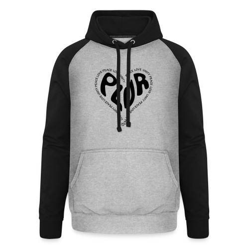 PLUR Peace Love Unity & Respect ravers mantra in a - Unisex Baseball Hoodie