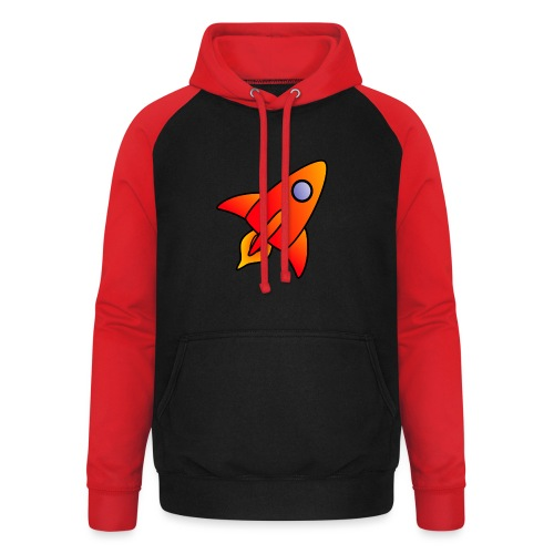 Red Rocket - Unisex Baseball Hoodie