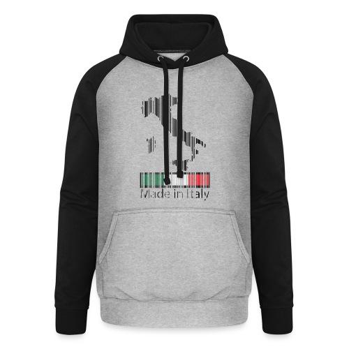 Made in Italy - Felpa da baseball con cappuccio unisex