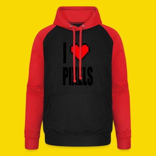 I Love Pixels - Bluza bejsbolowa typu unisex