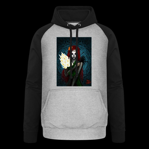 Death and lillies - Unisex Baseball Hoodie