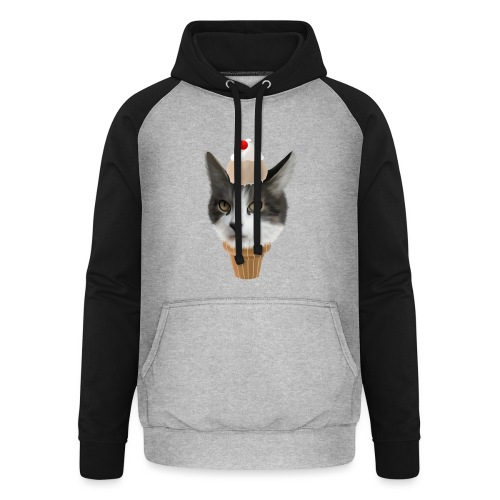 Ice Cream Cat - Unisex Baseball Hoodie