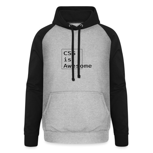 cssawesome - black - Unisex baseball hoodie